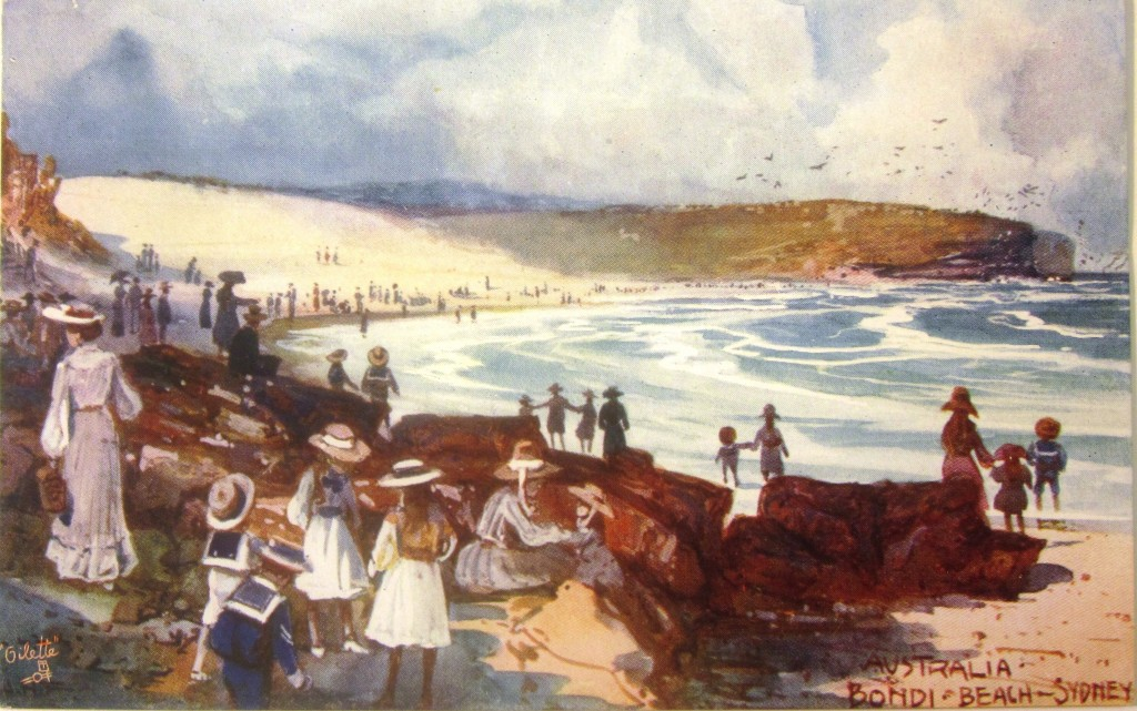 Australia: Bondi Beach-Sydney, Raphael Tuck 'Oilette' postcard, c. 1906: Josef Lebovic collection, National Museum of Australia.
