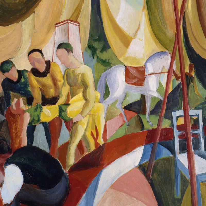 August_Macke_-_Zirkus_(1913)