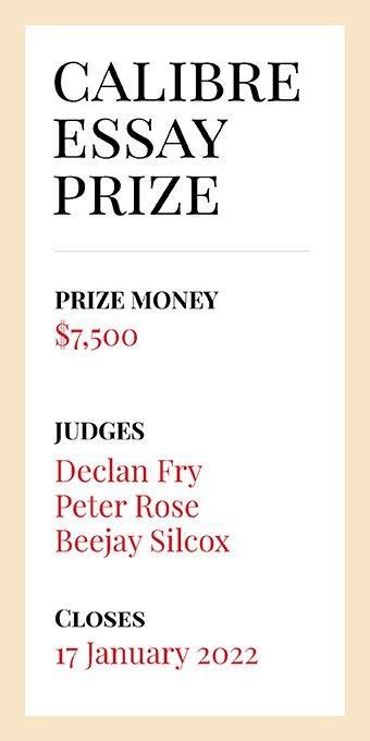 Enter the $7,500 Calibre Essay Prize!